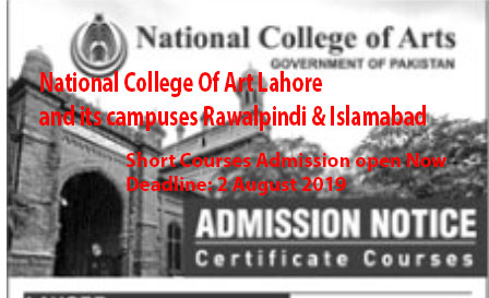 Nca Lahore Short Courses 2019 Guidestudent